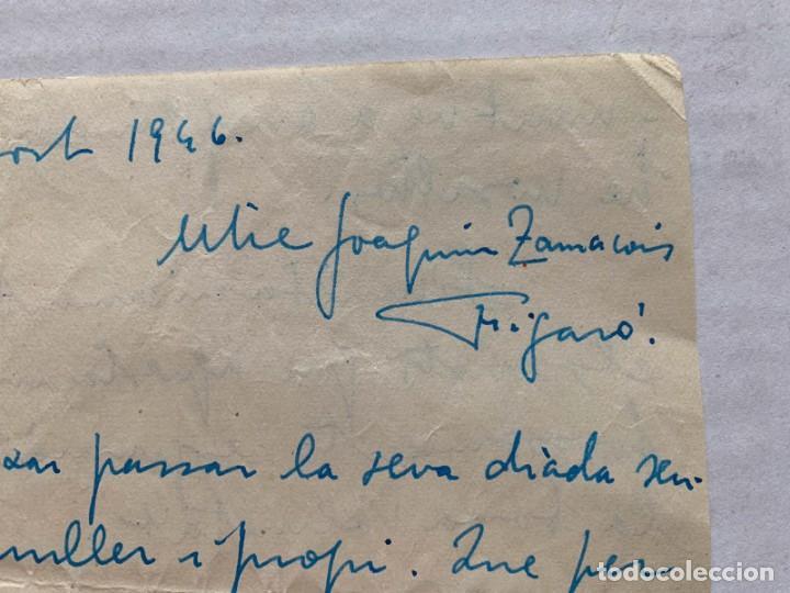 Música de colección: LLUIS MARIA MILLET - CARTA MANUSCRITA A DOBLE CARA A JOAQUIN ZAMACOIS FIRMADA - Foto 4 - 197958470