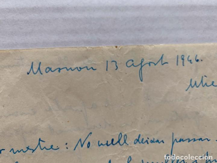 Música de colección: LLUIS MARIA MILLET - CARTA MANUSCRITA A DOBLE CARA A JOAQUIN ZAMACOIS FIRMADA - Foto 5 - 197958470