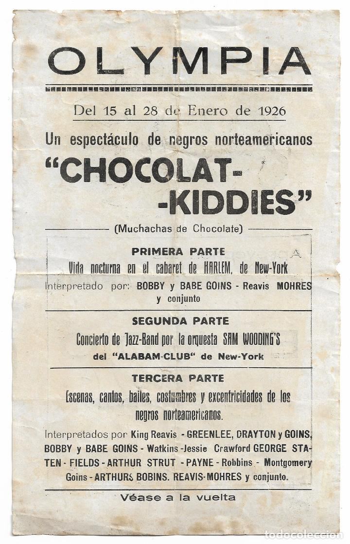 Música de colección: JAZZ - BAND - ORQUESTA SAM WOODINGS - BOBBY AND BABE GOINS - 1926 - 13,8 X 22,2 CM. - Foto 2 - 198560033
