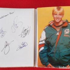 Música de colección: BACKSTREET BOYS- LOTE DE 10 POSTALES Y FOTOS FIRMADAS. Lote 199136972