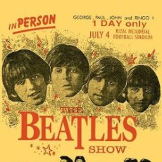 Musica di collezione: THE BEATLES - THE BEATLES SHOW 1966 CONCERT POSTER (PHILIPPINES) !! CARTEL CONCIERTO 30X40 !!. Lote 200152696