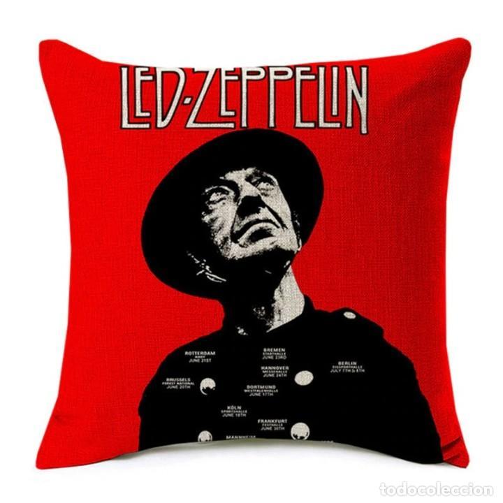 LED ZEPPELIN !! - EXCLUSIVO COJIN ALGODÓN Y LINO, COJIN 43 CM X 43 CM / LIMT EDIT, NUEVO (Música - Varios)