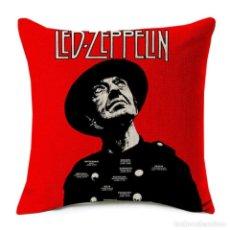 Música de colección: LED ZEPPELIN !! - EXCLUSIVO COJIN ALGODÓN Y LINO, COJIN 43 CM X 43 CM / LIMT EDIT, NUEVO. Lote 202097852