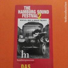 Musique de collection: TRIPTICO FLYER THE BEATLES JOHN LENNON HAMBURG . Lote 202435327