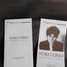 Musique de collection: FLYER YOKO ONO IMPRESSION BARCELONA BEATLES VER FOTOS ADICIONALES. Lote 202648116