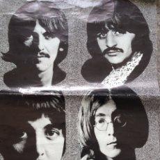 Música de colección: BEATLES - POSTER ESPAÑOL ORIGINAL 1970. Lote 202805203