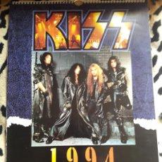 Música de colección: KISS CALENDARIO 1994 (DANILO) VERSIÓN CONTRAPORTADA CARTÓN. Lote 202847441