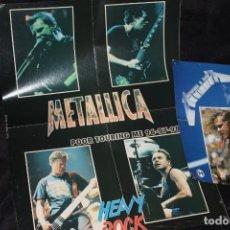 Música de colección: METALLICA LOTE TRES POSTERS AÑOS 80- 90 VINTAGE ORIGINALES. Lote 203040710