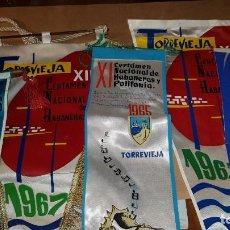 Musica di collezione: LOTE 5 BANDERINES CERTAMEN HABANERAS. TORREVIEJA. ALICANTE. 1963,1965,1966,1967.. Lote 203613228