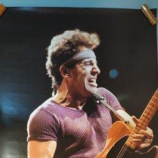 Música de colección: POSTER BRUCE SPRINGSTEEN TAMAÑO 96X68 ORIGINAL AÑO 1986. BUEN ESTADO. Lote 203884943