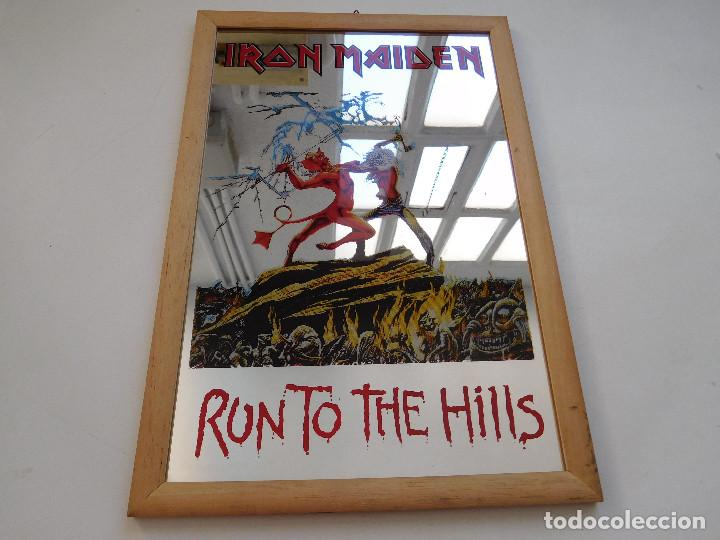 ESPEJO DE IRON MAIDEN AÑOS 80 RUN TO THE HILLS (Música - Varios)