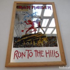 Música de colección: ESPEJO DE IRON MAIDEN AÑOS 80 RUN TO THE HILLS. Lote 204056528