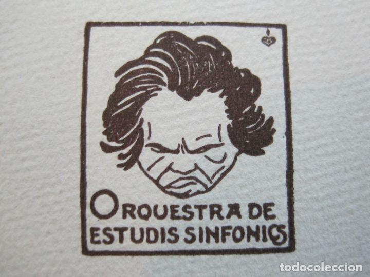 BARCELONA-ORQUESTRA DE ESTUDIS SINFONICS-INVITACION PALAU DE LA MUSICA-AÑO 1930-VER FOTOS-(69.906) (Música - Varios)
