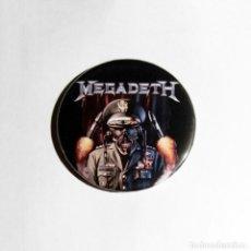 Música de colección: MEGADETH - GENERAL VIC RATTLEHEAD IMÁN NEVERA 59MM - THRASH METAL HEAVY METAL. Lote 222503070