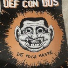Música de colección: PÓSTER DE DEF CON DOS. PUBLICITARIO DEL DISCO 'DE POCA MADRE'. 49 X 62 CM. NUEVO.. Lote 205007192