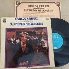 Musique de collection: RML REF:R400R DISCO VINILO GRANDE - CARLOS GARDEL CON LA ORQUESTA DE ALFREDO DE ANGELIS. Lote 205749065