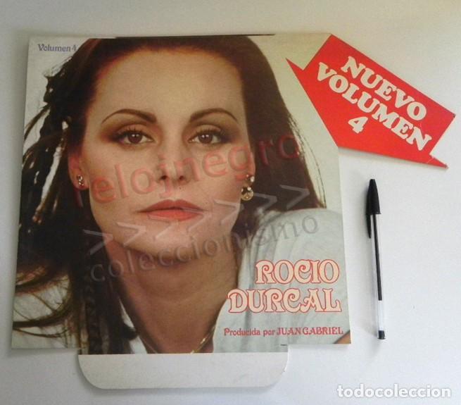 Música de colección: DISPLAY PUBLICITARIO DE ROCÍO DÚRCAL - ANUNCIO NUEVO VOLUMEN 4 - CANTANTE ESPAÑOLA FOTO - PUBLICIDAD - Foto 2 - 206332663