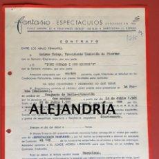 Música de colección: CONTRATO ACTUACIÓN TONY RONALD Y SUS KRONER´S - FIRMADO POR T. ROLAND - 1965 - LA PUEBLA - MALLORCA. Lote 206386757