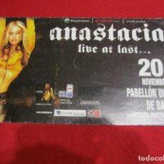 Música de colección: ANASTASIA POSTER CONCIERTO BARCELONA 2004. Lote 206584322