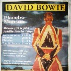 Música de colección: DAVID BOWIE. POSTER. 90 X 129 CMS... Lote 206590167