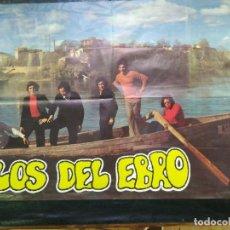 Música de coleção: CARTEL DEL CONJUNTO MUSICAL LOS DEL EBRO. 1972.98X64CMS. Lote 207580386