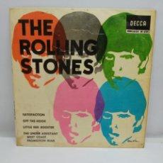 Musique de collection: THE ROLLING STONES, SATISFACTION + 3. - SOLO CARATULA-. Lote 208081120