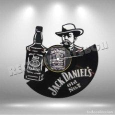 Música de colección: RELOJ DE DISCO LP DE JACK DANIELS. Lote 208699976