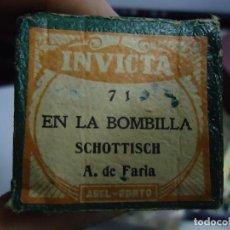 Música de colección: DISCO ANTIGUO DE PIANOLA EN LA BOMBILLA SCHOTTISCH -CHOTIS_ A. DE FARIA. Lote 209587025