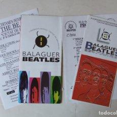 Musica di collezione: LOTE PROGRAMAS TRIPTICOS I Y II CERTAMEN VERSIONES BEATLES DE BALAGUER. Lote 210268778