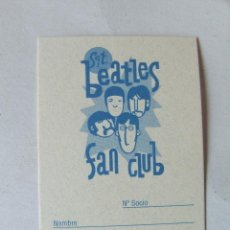 Musique de collection: CARNET DE SOCIO SGT. BEATLES FAN CLUB ESPAÑA COLOR AZUL CLARO. Lote 210279020