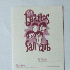 Musique de collection: CARNET DE SOCIO SGT. BEATLES FAN CLUB ESPAÑA COLOR GRANATE. Lote 210279460