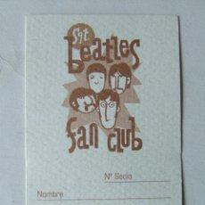 Musique de collection: CARNET DE SOCIO SGT. BEATLES FAN CLUB ESPAÑA COLOR MARRON. Lote 210279725