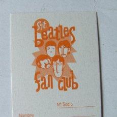 Musique de collection: CARNET DE SOCIO SGT. BEATLES FAN CLUB ESPAÑA COLOR NARANJA. Lote 210280318