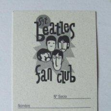 Musique de collection: CARNET DE SOCIO SGT. BEATLES FAN CLUB ESPAÑA COLOR NEGRO. Lote 210280543