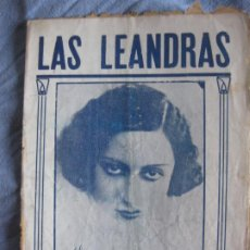 Musica di collezione: LAS LEANDRAS. GONZALEZ DEL CASTILLO YMUÑOZ ROMAN. MUSICA FRANCISCO ALONSO. LAURA PINILLOS.. Lote 210365798