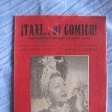 Musica di collezione: TAXI AL COMICO. JOSE ANDRES DE PRADA. MUSICA ALONSO CABRERA.. Lote 210381566