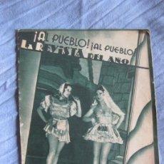 Música de colección: PROGRAMA TEATRO ROMEA. ¡AL PUEBLO! ¡AL PUEBLO! LA REVISTA DEL AÑO. CON GARRIGA Y ALADY.. Lote 210432400