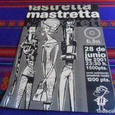 Música de colección: CARTEL CONCIERTO DE MASTRETTA SALA EL SOL DE MADRID. 1200 PTS. 41X29 CMS. RARO BUEN ESTADO.. Lote 210641049