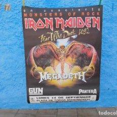 Música de colección: CARTEL DEL MONSTERS OF ROCK 1992 BARCELONA IRON MAIDEN MEGADETH PANTERA GUN. Lote 210835579