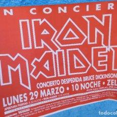 Música de colección: CARTEL DE IRON MAIDEN CONCIERTO DESPEDIDA DE BRUCE DICKINSON BARCELONA 1993. Lote 210836400
