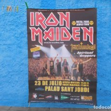 Música de colección: CARTEL DE IRON MAIDEN CONCIERTO EN BARCELONA METAL 2000 WORLD TOUR ENTOMBED. Lote 210843250