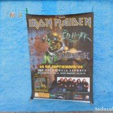 Música de colección: CARTEL DE IRON MAIDEN THE ED HUNTER TOUR 1999 BARCELONA MEGADETH. Lote 210843971