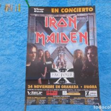 Música de colección: CARTEL DE IRON MAIDEN CONCIERTO EN GRANADA THE FACTOUR X 1995. Lote 210845159