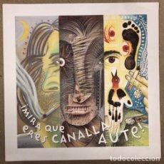 Música de colección: LUIS EDUARDO AUTE, ¡MIRA QUE ERES CANALLA, AUTE! LITOGRAFÍA PROMOCIONAL DEL ÁLBUM (2000).. Lote 211628430