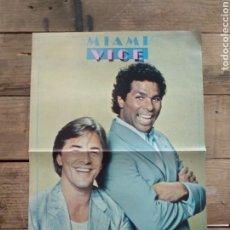 Musica di collezione: POSTER DOBLE SUPER POP MIAMI VICE AÑOS 80. Lote 211765667