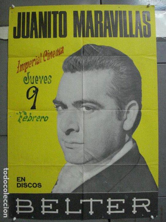 CDO 4140 JUANITO MARAVILLAS POSTER ORIGINAL 70X100 DISCOS BELTER (Música - Varios)