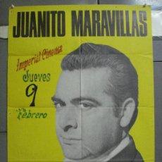 Música de coleção: CDO 4140 JUANITO MARAVILLAS POSTER ORIGINAL 70X100 DISCOS BELTER. Lote 211877920