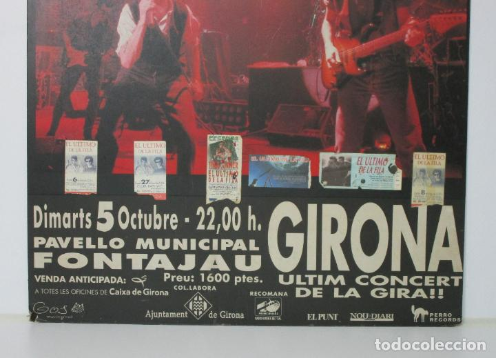 Música de colección: Cartel - El Ultimo de la Fila en Concert - Pavello Fontejau, Girona - Últim Concert - con 6 Entradas - Foto 2 - 211891035