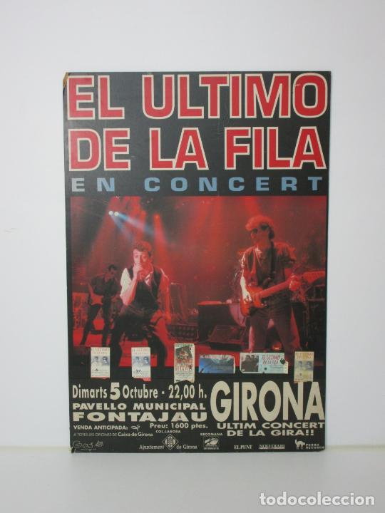 Música de colección: Cartel - El Ultimo de la Fila en Concert - Pavello Fontejau, Girona - Últim Concert - con 6 Entradas - Foto 17 - 211891035