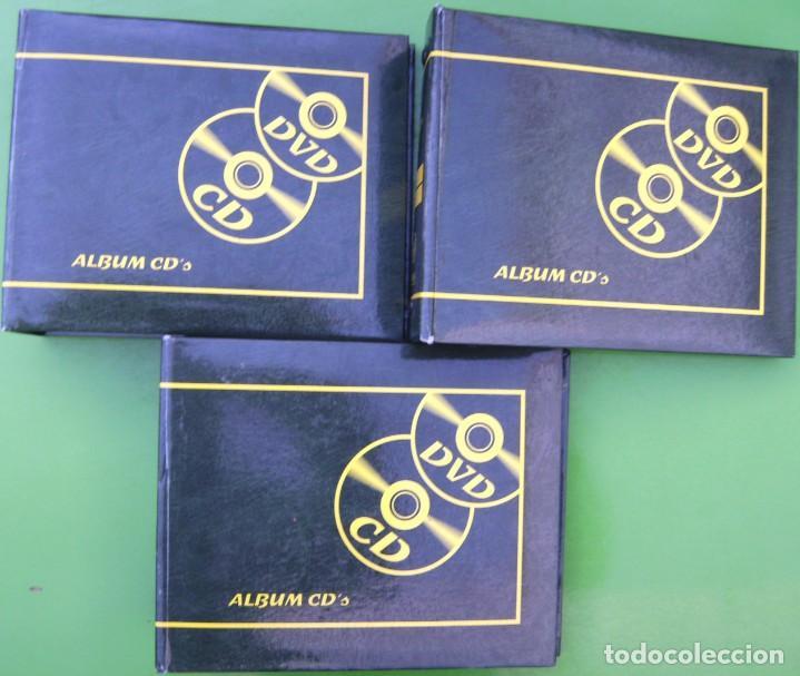 LOTE 3 ALBUMES O PORTA CDS - DVDS (Música - Varios)
